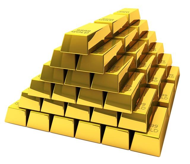 pyramida ze zlatých cihel