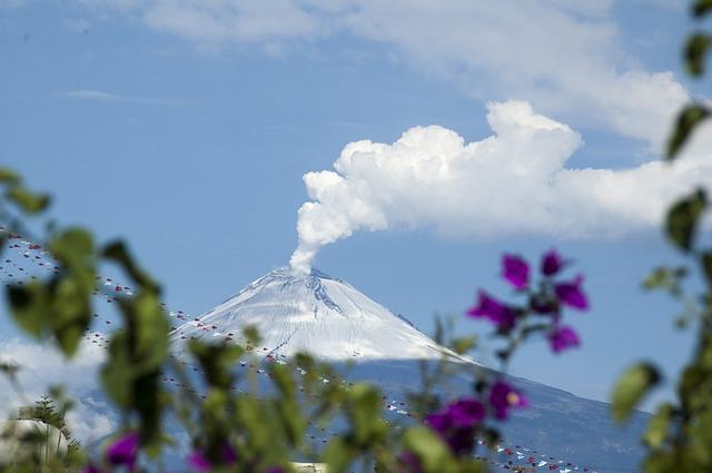 sopka popocatepetl